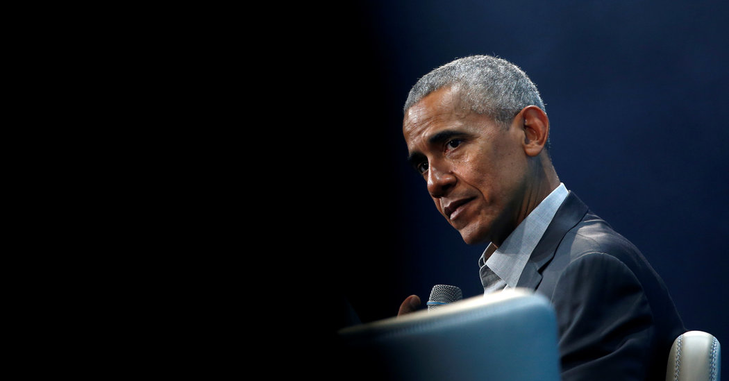 Democratic Rivals Are Fighting Over Obama. He Has Some Opinions.
