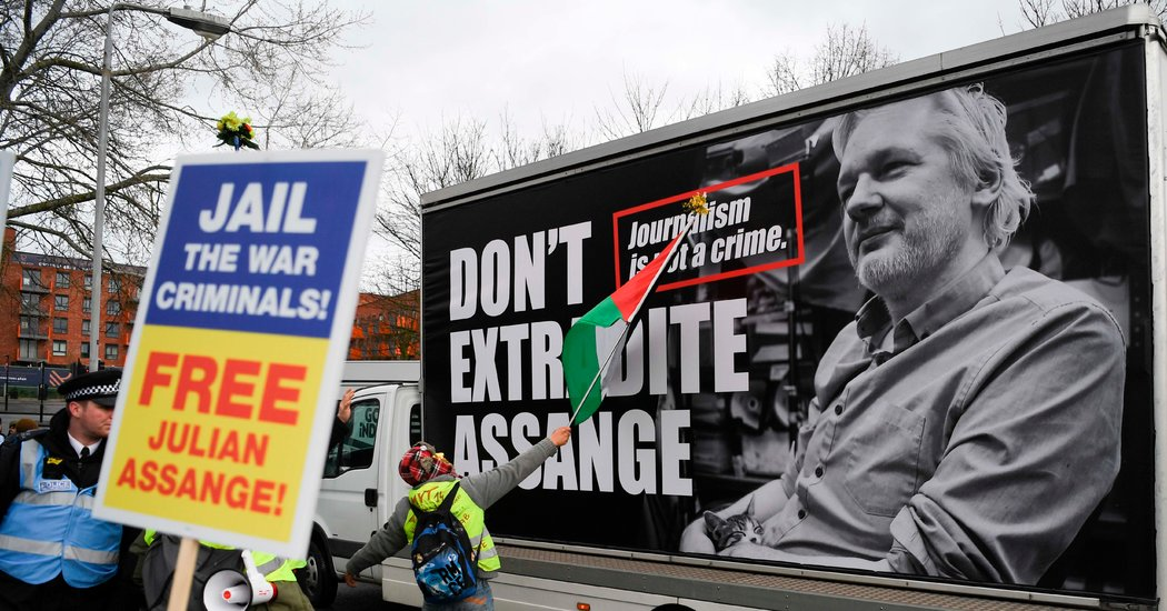 Julian Assange Faces Hearing on Extradition to the U.S.