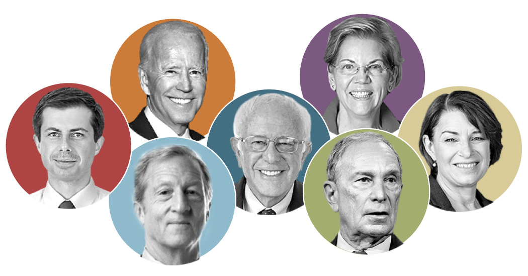 Live Tracking Each Candidate's Speaking Time in the Democratic Debate