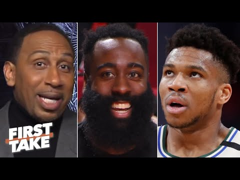 Stephen A. loves James Harden's clap back at Giannis | First Take