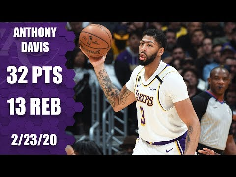 Anthony Davis drops 32-point double-double in Celtics vs. Lakers   2019-20 NBA Highlights