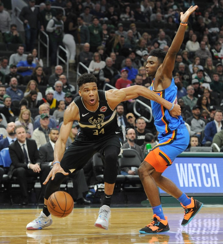 NBA roundup: Thunder's streak ends in blowout loss to Bucks