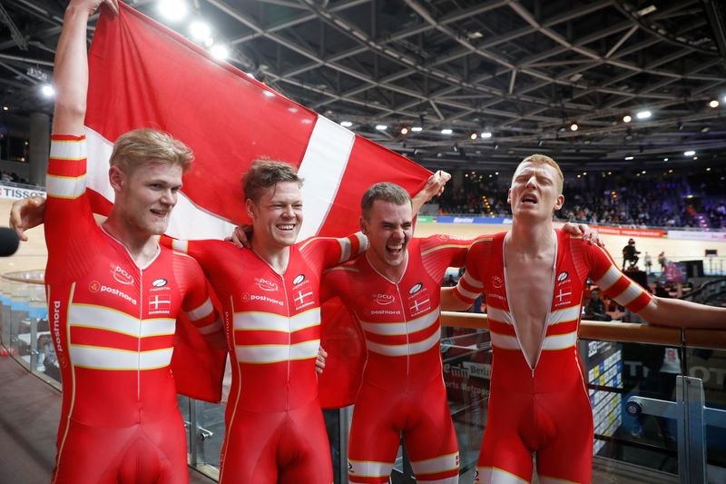 Cycling: Danes smash world record again to win team pursuit gold