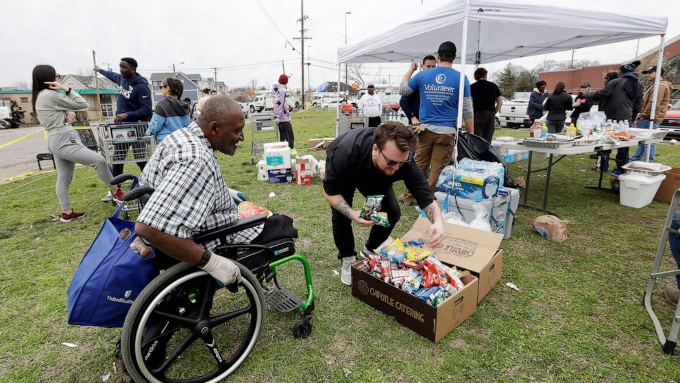 Tornado relief agencies ask volunteers to take a day off