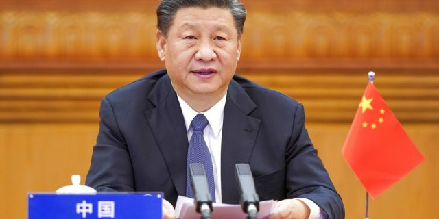 In this photo released by Xinhua News Agency, Chinese President Xi Jinping attends the G20 Extraordinary Virtual Leaders' Summit on COVID-19 via video link in Beijing, capital of China, March 26, 2020.