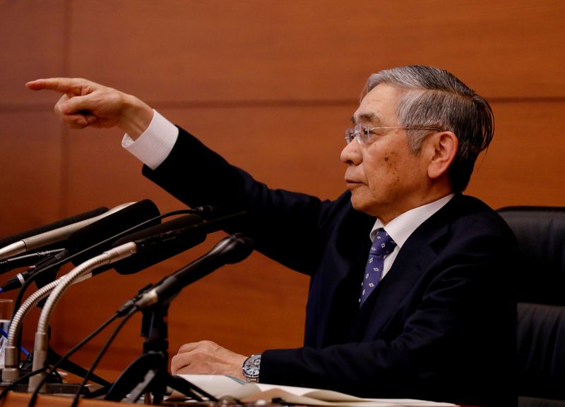BOJ's Kuroda meets with PM Abe and vows response to coronavirus