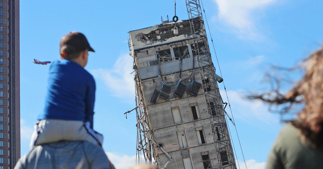 'Leaning Tower of Dallas' Finally Falls