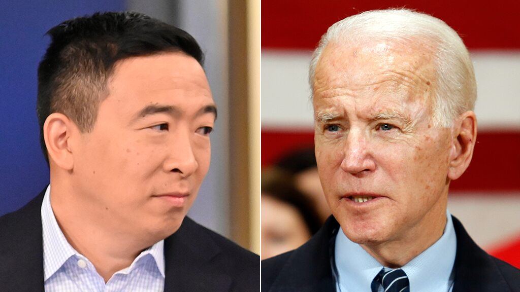Andrew Yang endorses Biden for president: 'The math says Joe is our prohibitive nominee'