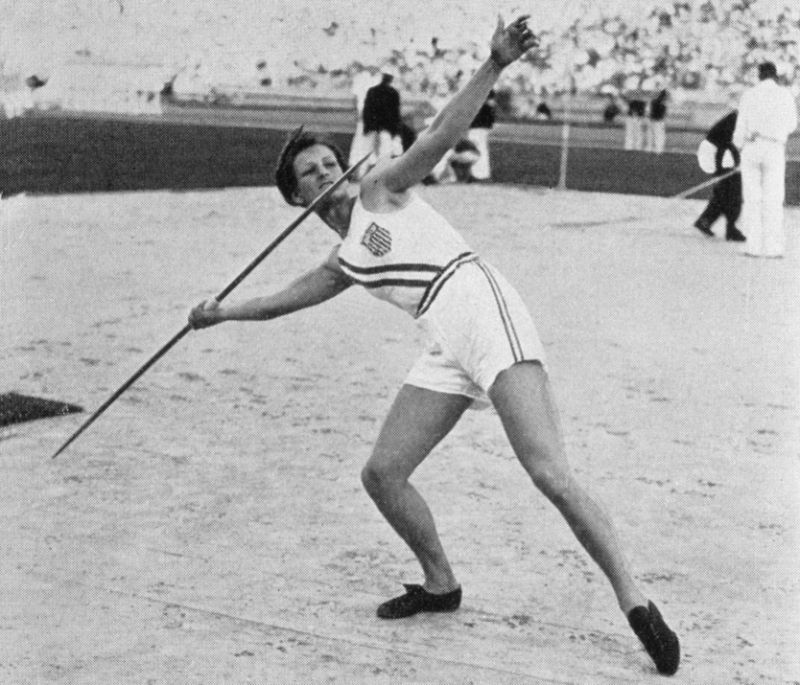 Babe Didrikson won a gold in javelin and the 80-meter hurdles at the 1932 Olympics, and took home a silver for long jump. (Photo by Getty Images)