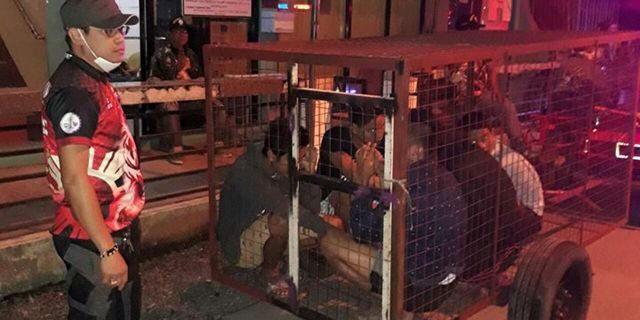 An official in Santa Cruz, the Philippines, is facing several charges after five curfew violators -- including two minors --- were put in a dog cage.