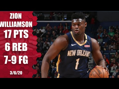 Zion Williamson shows off his strength and scores 17 in Pelicans vs. Heat   2019-20 NBA Highlights