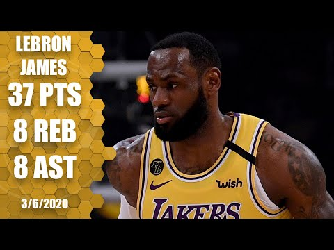 LeBron drops 37 in showdown with Giannis in Lakers vs. Bucks   2019-20 NBA Highlights