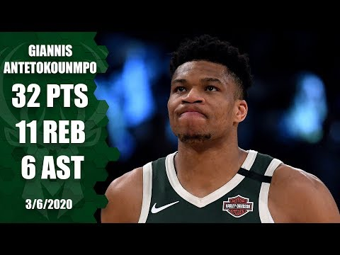 Giannis drops 32 points in showdown with LeBron in Bucks vs. Lakers   2019-20 NBA Highlights