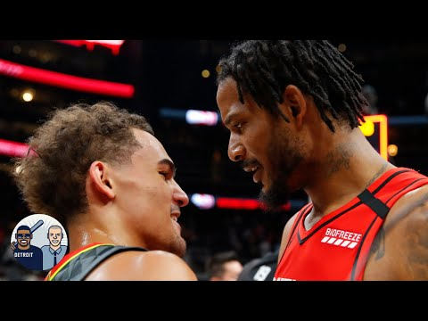 Jalen Rose loves that Trevor Ariza punished Trae Young for trying to nutmeg him   Jalen & Jacoby