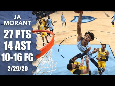 Ja Morant GOES OFF vs. Lakers and nearly puts AD on a poster   2019-20 NBA Highlights