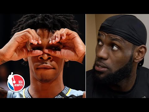 LeBron James shouts out Ja Morant after his dominating performance vs. Lakers | NBA Sound