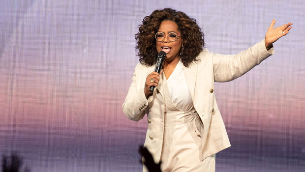 Oprah Shows Off Huge Leg Compress After Fall On Stage & Admits She's 'Sore' — See Pic
