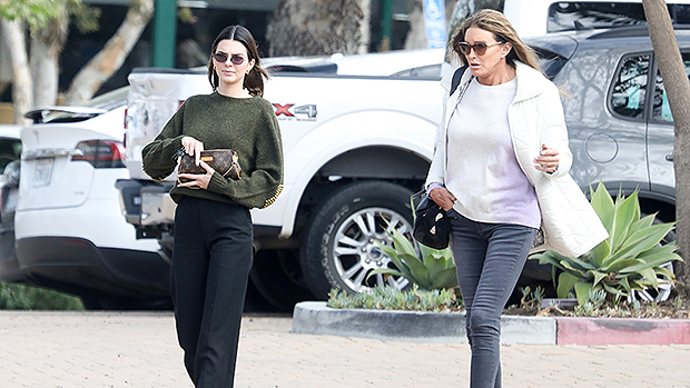 Kendall & Caitlyn Jenner Twin In Black As They Step Out For Malibu Lunch Date