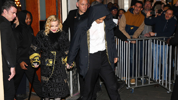 Madonna, 61, Holds Hands With BF Ahlamalik, 25, After Falling On Stage At Madame X Concert