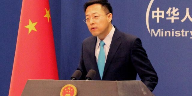 Chinese Foreign Ministry Spokesman Zhao Lijian during his first regular press briefing at the Chinese Foreign Ministry.