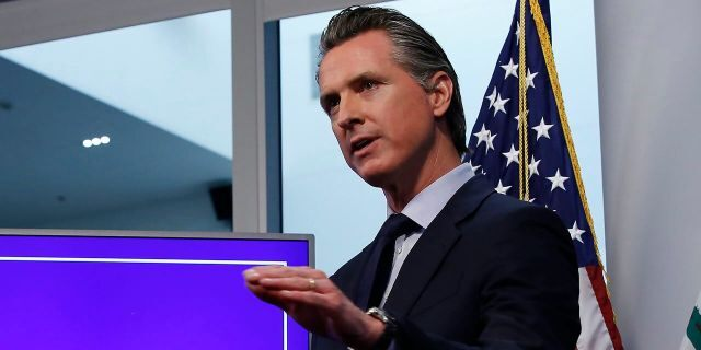 In this Tuesday April 14, 2020, file photo, California Gov. Gavin Newsom discusses an outline for what it will take to lift coronavirus restrictions, during a news conference at the Governor's Office of Emergency Services in Rancho Cordova, Calif. (AP Photo/Rich Pedroncelli, File)