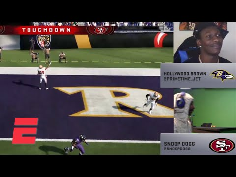 Snoop Dogg and Hollywood Brown hit on big plays early | Madden NFL Celebrity Tournament Highlights