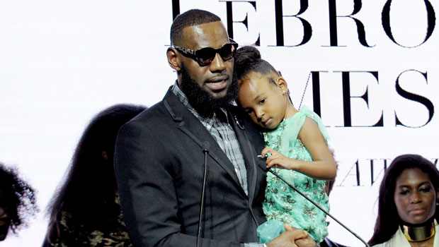 LeBron James' Daughter Zhuri, 5, Channels Harley Quinn In A Fierce Red & Gold Outfit