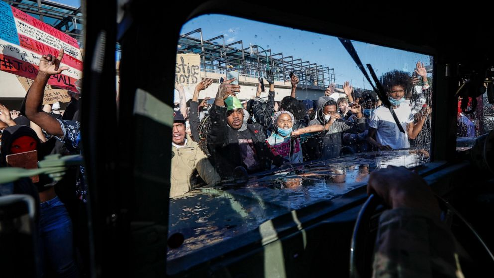 AP PHOTOS: Images from protests across a traumatized nation