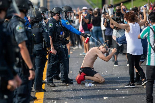 Aggressive Police Tactics During Protests Are Under Scrutiny