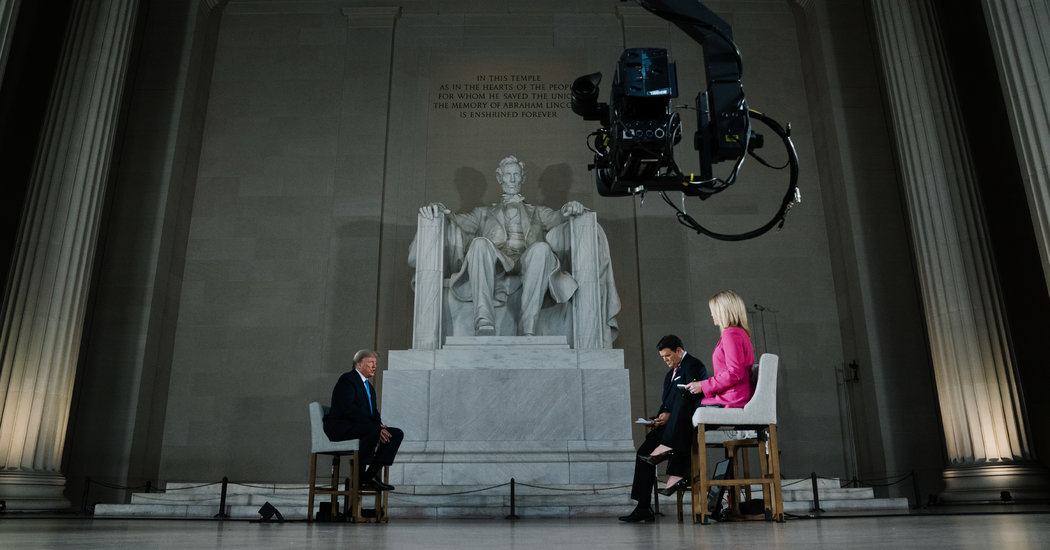 Most Events in the Lincoln Memorial Are Banned. Trump Got an Exception.