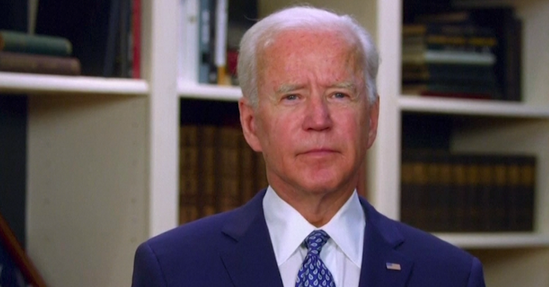 'This Is No Time for Incendiary Tweets,' Biden Says, Rebuking Trump