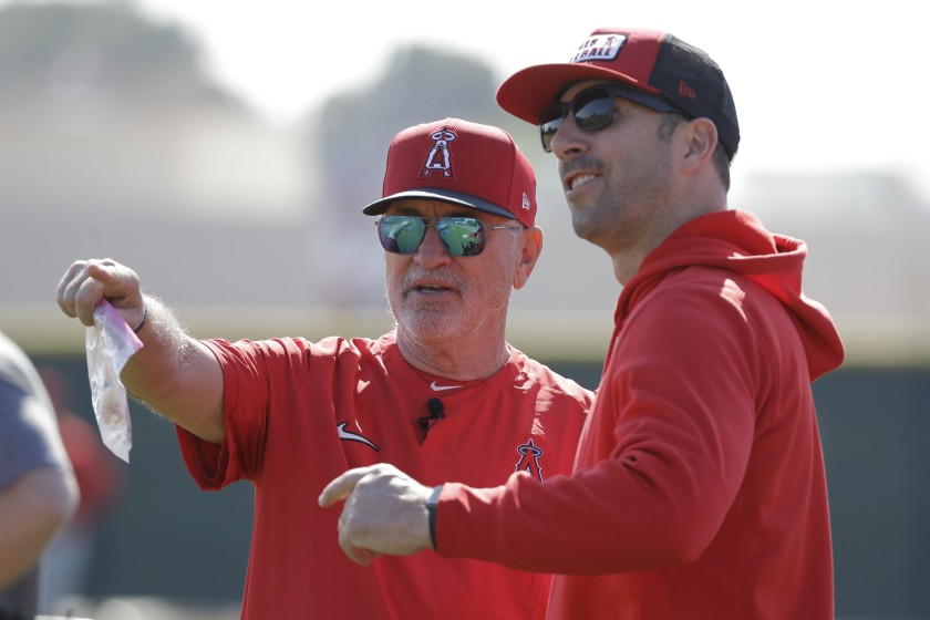 Dodgers and Angels step up workouts at their stadiums in anticipation of a season