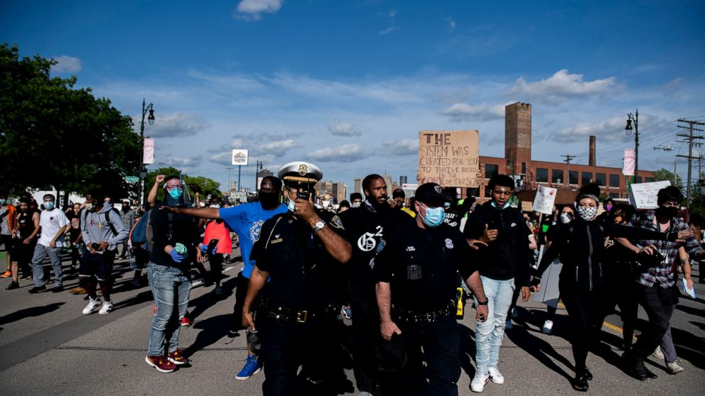 Chief: Most arrested at Detroit protest are not from city