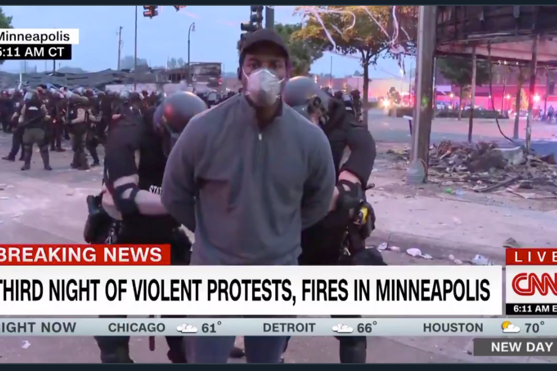 CNN Reporters Arrested For Covering Protests in Minnesota