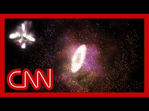 Colliding galaxies formed 'cosmic ring of fire,' scientists say