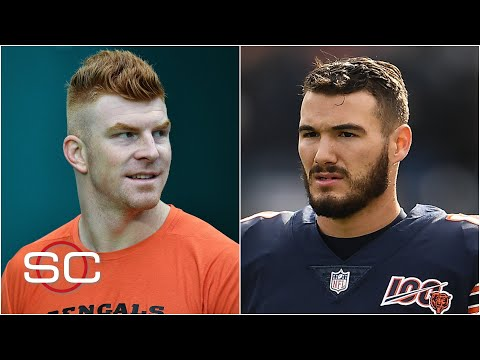 Andy Dalton signs with Cowboys, Mitchell Trubisky's fifth-year option declined | SportsCenter