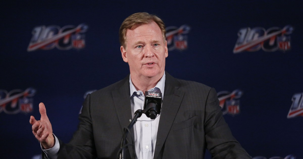 Roger Goodell says 'tragic events' call for 'urgent need for action'