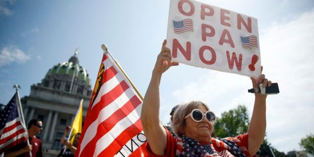 Protesters rally in Pennsylvania capital against coronavirus restrictions: 'Decisions by fiat'