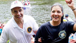 Gov. Andrew Cuomo Catches A Quick Catnap With Daughter Before Resuming Pandemic Fight