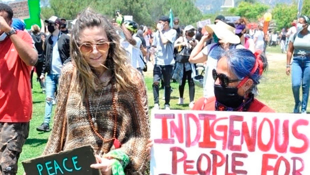 Paris Jackson, Madison Beer & More Celebs Join Protest Frontlines Across The Country — See Pics