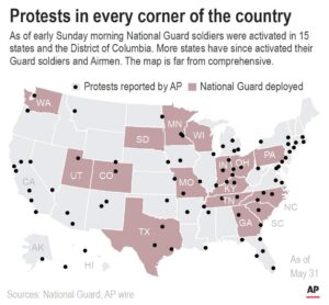 Protests flare again in US amid calls to end police violence