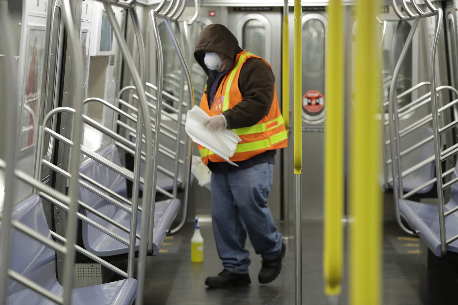 Mayor: Subway social distance markers a must for reopening