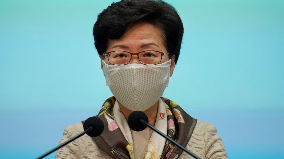 """Hong Kong leader criticizes """"double standards"""" over protests"""