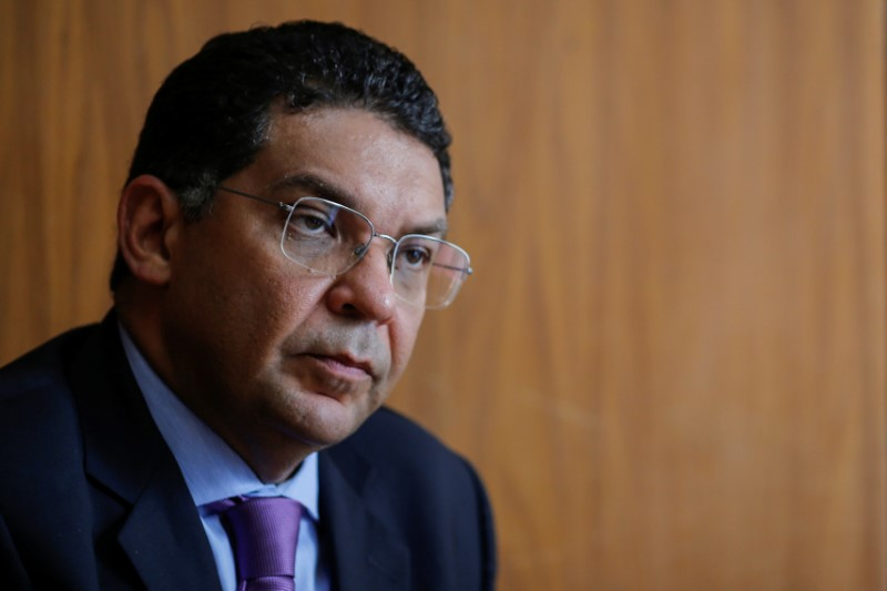 © Reuters. Brazil's Secretary of the Treasury Mansueto Almeida attends an interview with Reuters in Brasilia