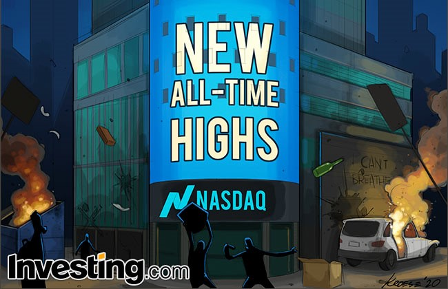 Comic: Stocks Surge Towards Record Highs As Markets Look Past Civil Unrest