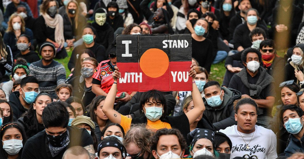 Throngs Marching in Australia and Europe Against Police Brutality
