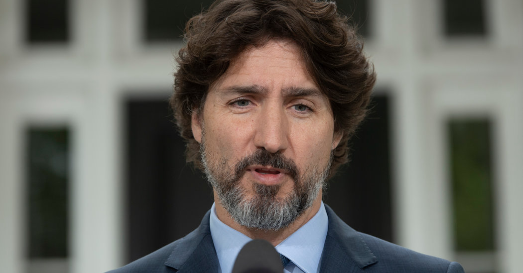Trudeau at a Loss for Words Over Question on Trump and Protests