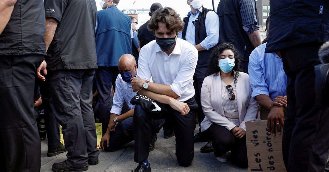 Prime Minister Justin Trudeau Takes a Knee