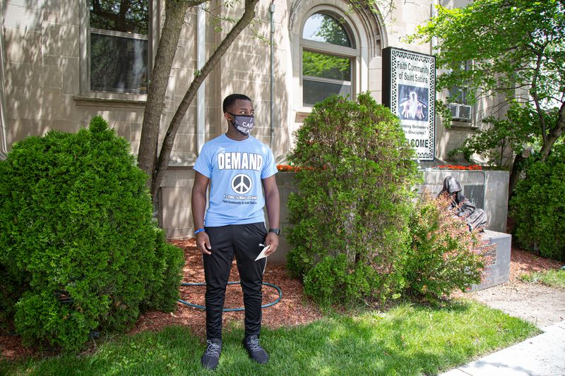 Phillip Hunter, who took part in a demonstration Thursday in Auburn Gresham, says he and his peers carry a heavier responsibility than past generations, dealing with police brutality and the COVID-19 pandemic. He plans to attend Carthage College in Wisconsin to study biology and wants to become a doctor.