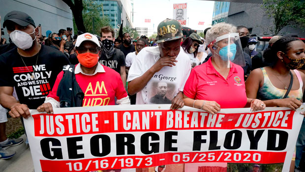 George Floyd's Family March With Protesters In Houston — See Moving Photos